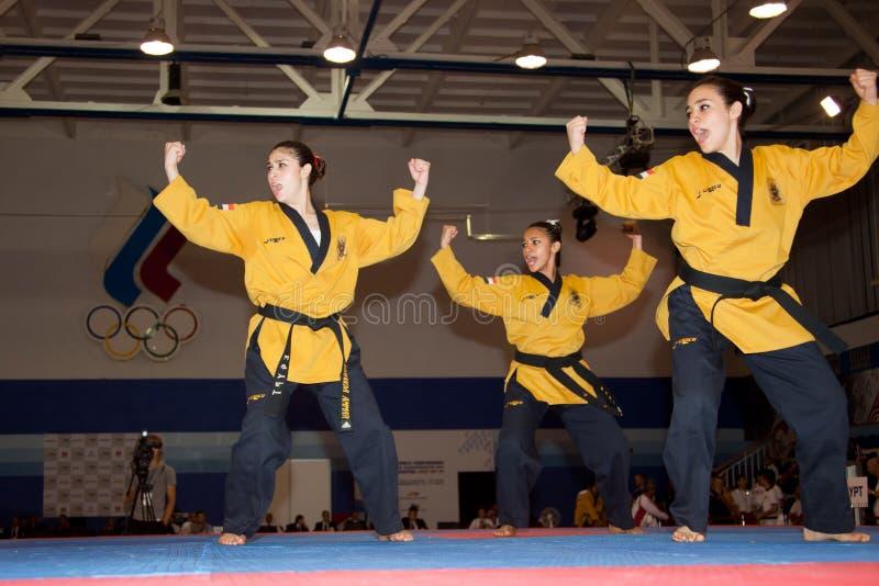 Meisterschaft WTF Welttaekwondo-Poomsae lizenzfreie stockfotografie