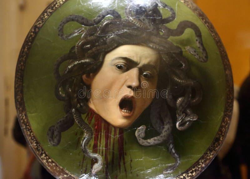 Meisterwerke in Uffizi-Galerie, Florenz, Italien lizenzfreie stockfotografie