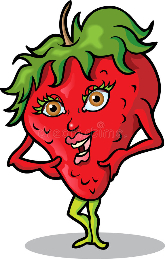 Mej. Strawberry vector illustratie