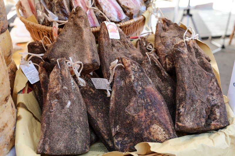 Mejilla italiana del cerdo para la venta foto de archivo