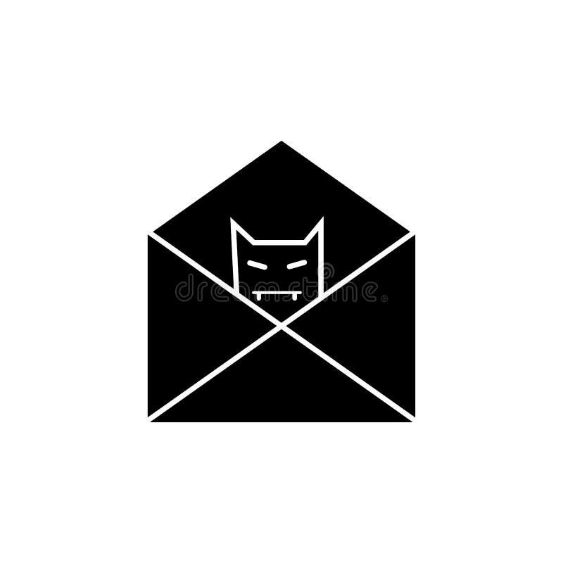 Mejl med felspionsymbolen Beståndsdelar av cybersäkerhetssymbolen Högvärdig kvalitets- grafisk design Tecken symbol för översikts stock illustrationer