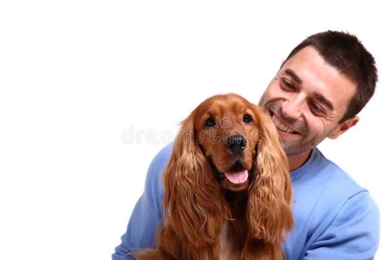 Mejor amigo del hombre imagen de archivo libre de regalías