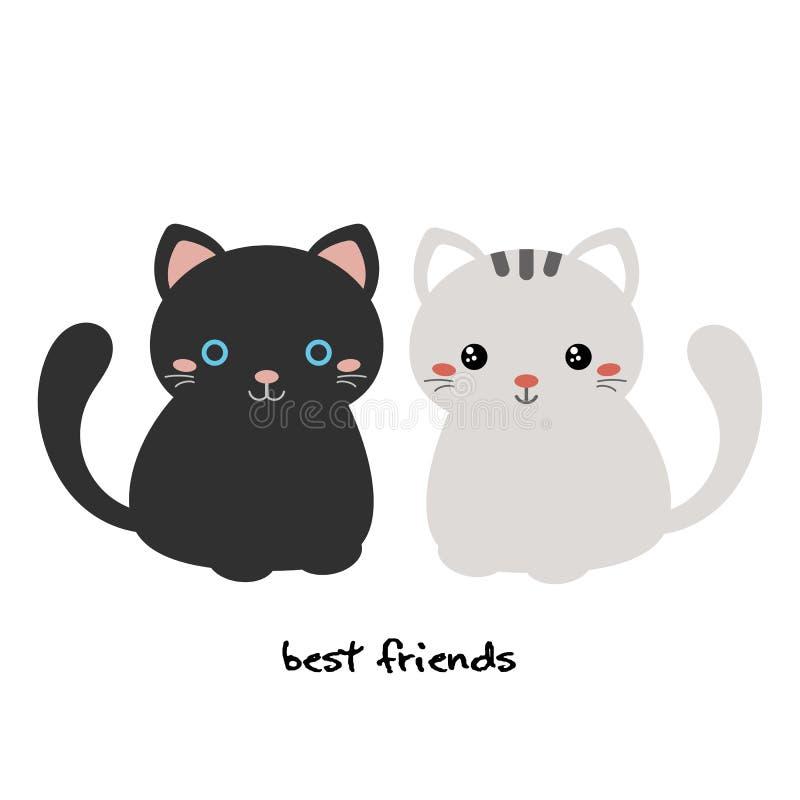Mejor amigo para siempre ilustración del vector