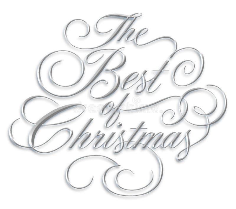 Mejor de la escritura de la Navidad foto de archivo libre de regalías