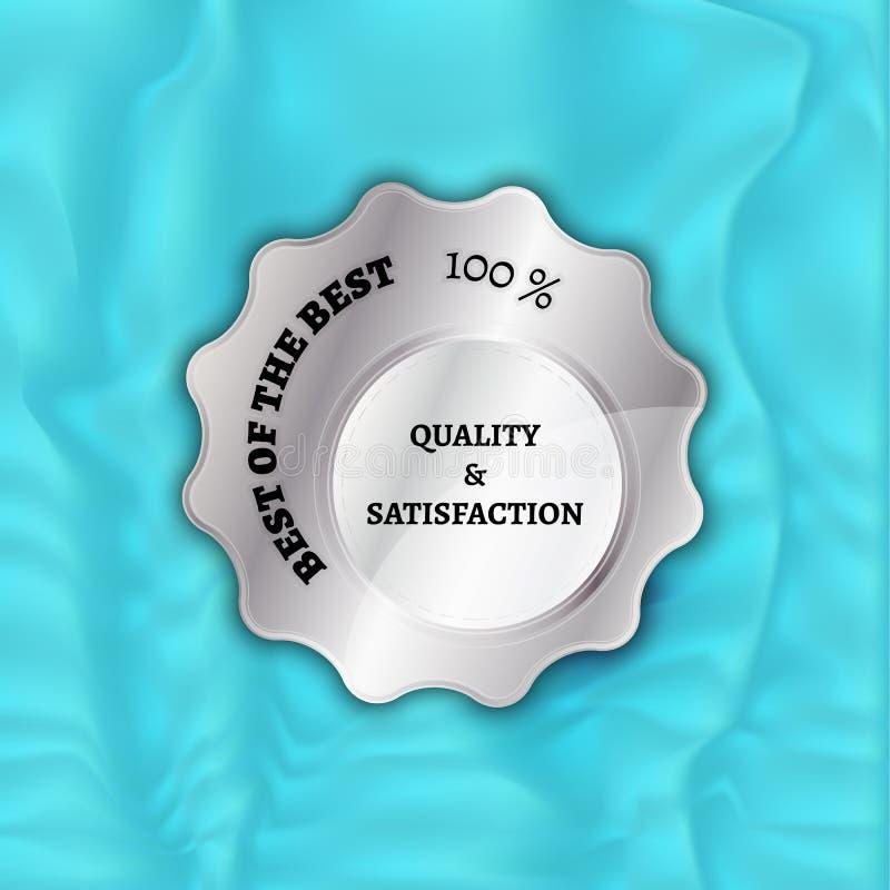 Mejor de la plata del mejor sello ilustración del vector