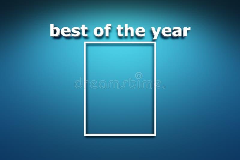 Mejor del año ilustración del vector