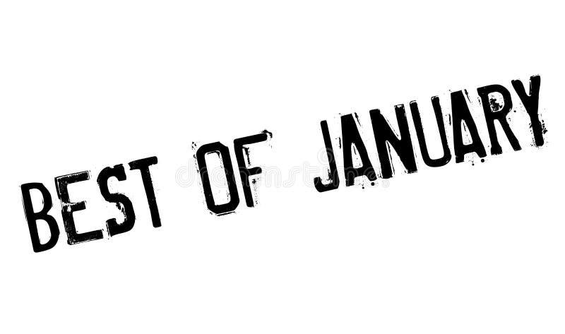 Mejor del sello de goma de enero ilustración del vector
