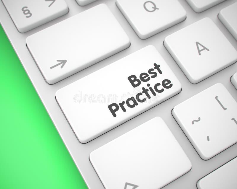 Mejor práctica - mensaje en el telclado numérico blanco del teclado 3d ilustración del vector