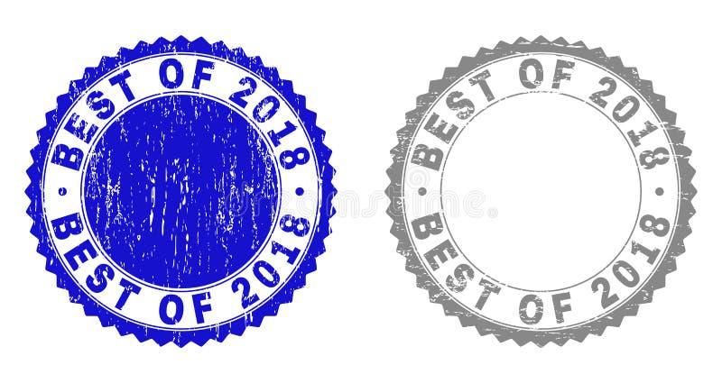 MEJOR texturizado de los sellos 2018 del sello del Grunge ilustración del vector