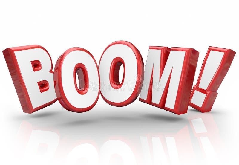 Mejora explosiva de la economía de las ventas del aumento del crecimiento de la palabra del auge 3d libre illustration