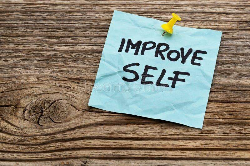 Mejore el recordatorio de motivación del uno mismo foto de archivo