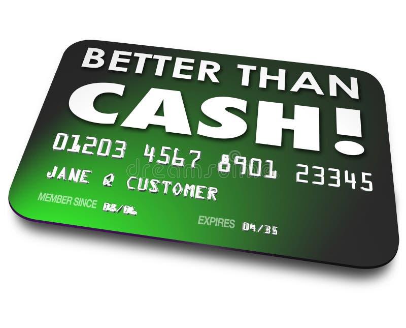 Mejore que compras fáciles de la conveniencia del carte cadeaux del debe del crédito de efectivo stock de ilustración