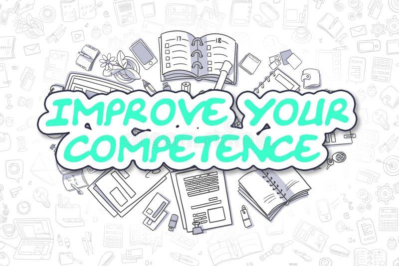 Mejore su capacidad - concepto del negocio stock de ilustración