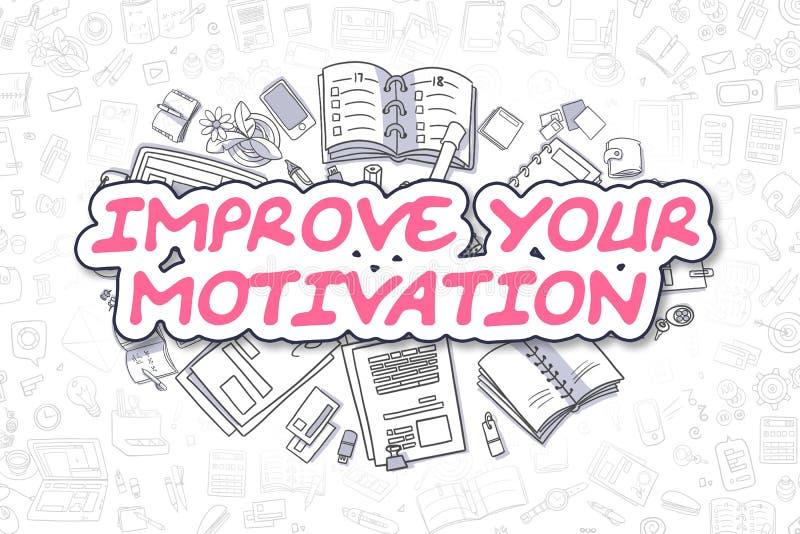 Mejore su motivación - concepto del negocio ilustración del vector