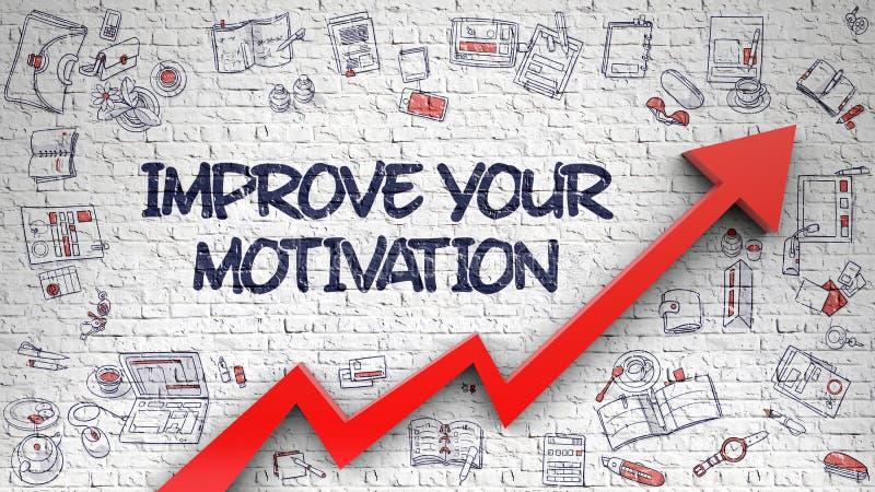 Mejore su motivación dibujada en Brickwall blanco libre illustration