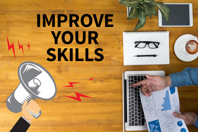 Mejore sus habilidades stock de ilustración