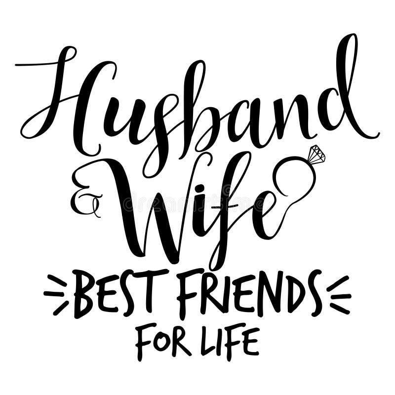 Mejores amigos del marido y de la esposa para la vida ilustración del vector