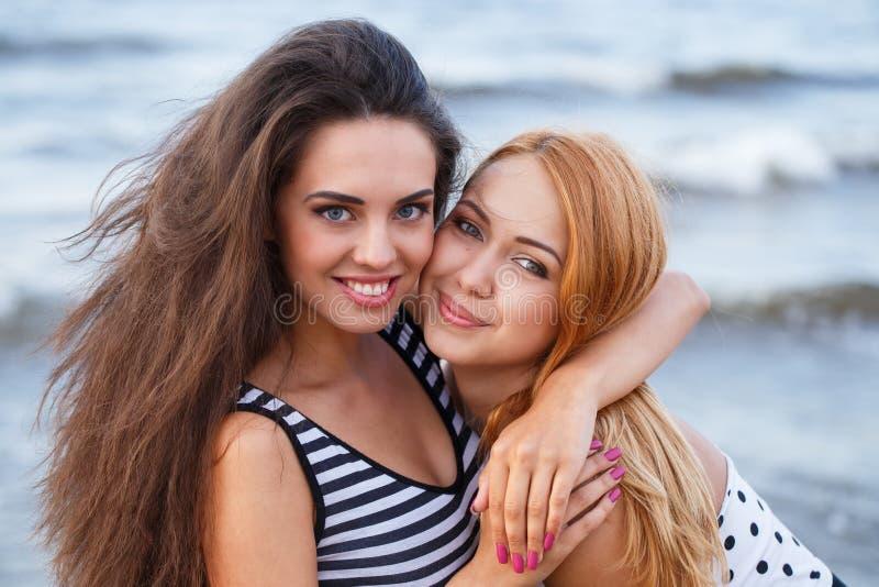 Mejores amigos en la playa imagen de archivo libre de regalías