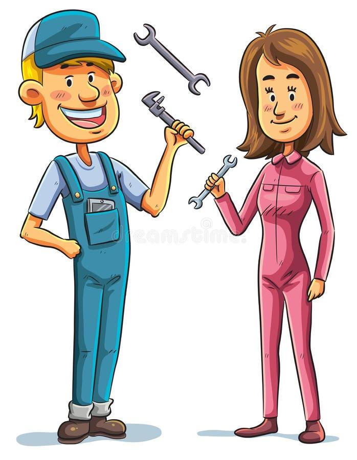 Mekaniker stock illustrationer