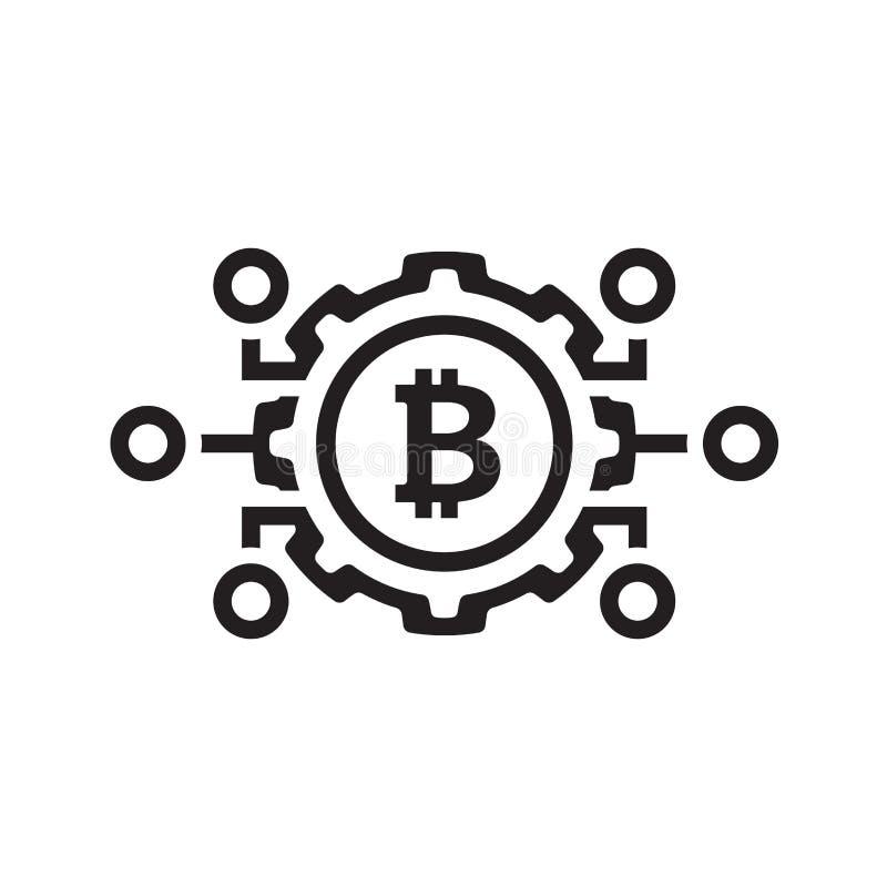 Mekaniker av den Bitcoin symbolen stock illustrationer
