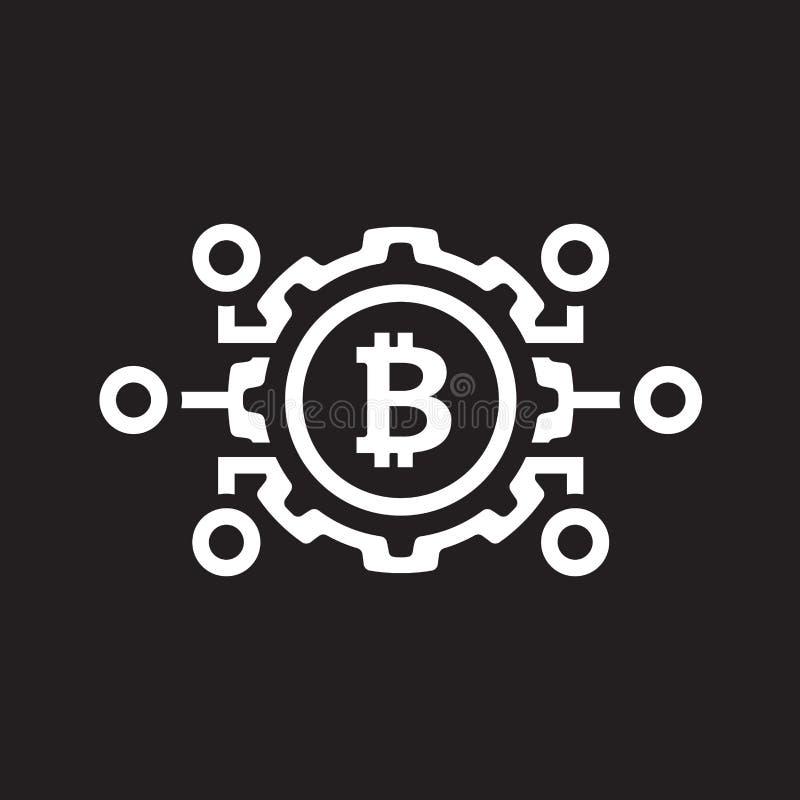 Mekaniker av den Bitcoin symbolen vektor illustrationer