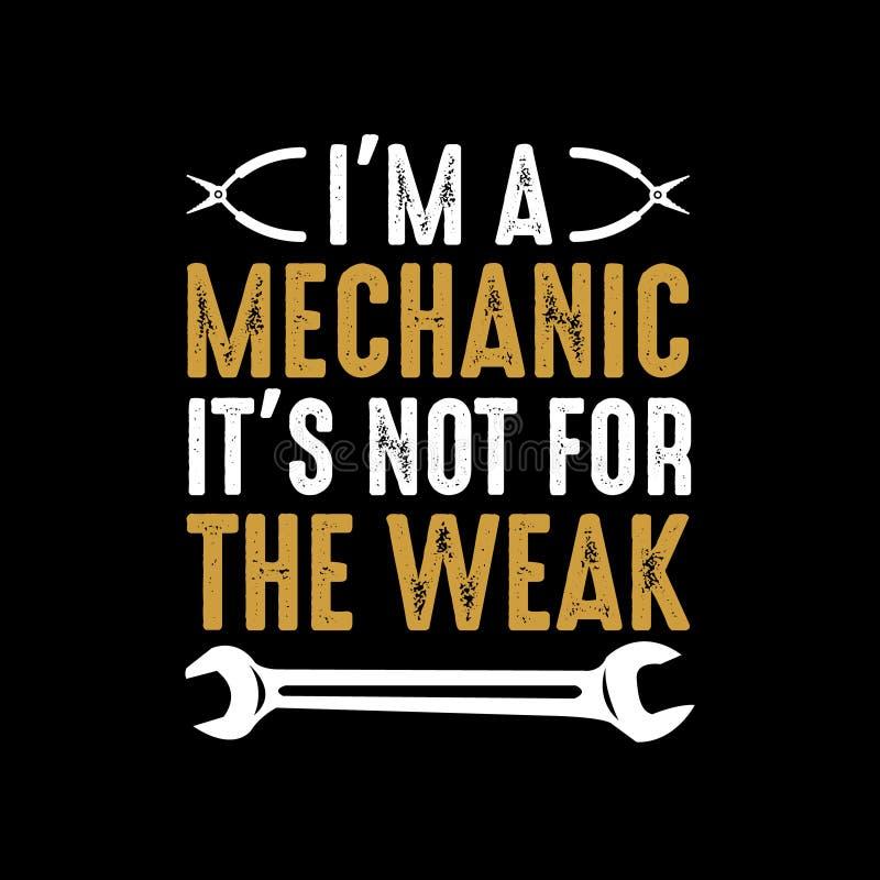 Mekaniker Funny Saying och citationstecken vektor illustrationer