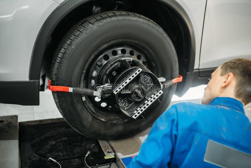 Mekanikern justerar kollaps av konvergensställningen royaltyfri bild