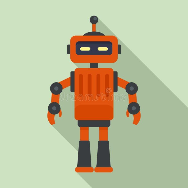 Mekanikerrobotsymbol, plan stil vektor illustrationer