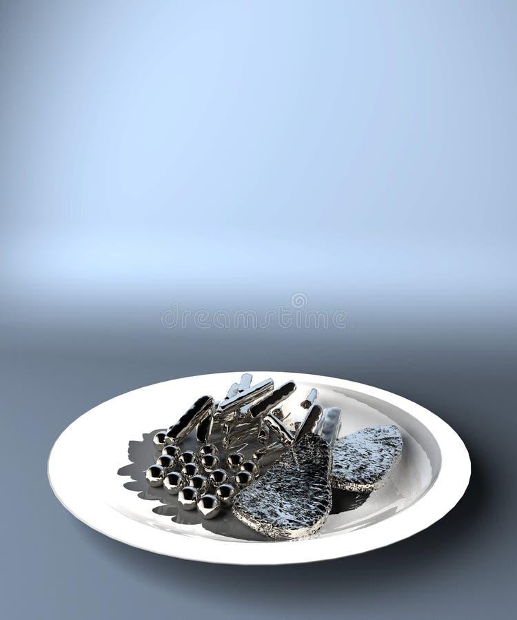 mekaniserad mat stock illustrationer