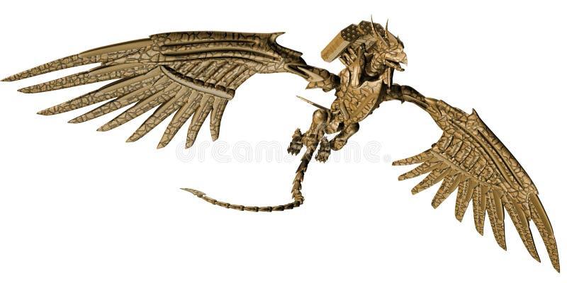 Mekanisk drake royaltyfri illustrationer