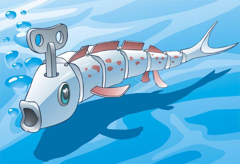 mekanisk fisk vektor illustrationer