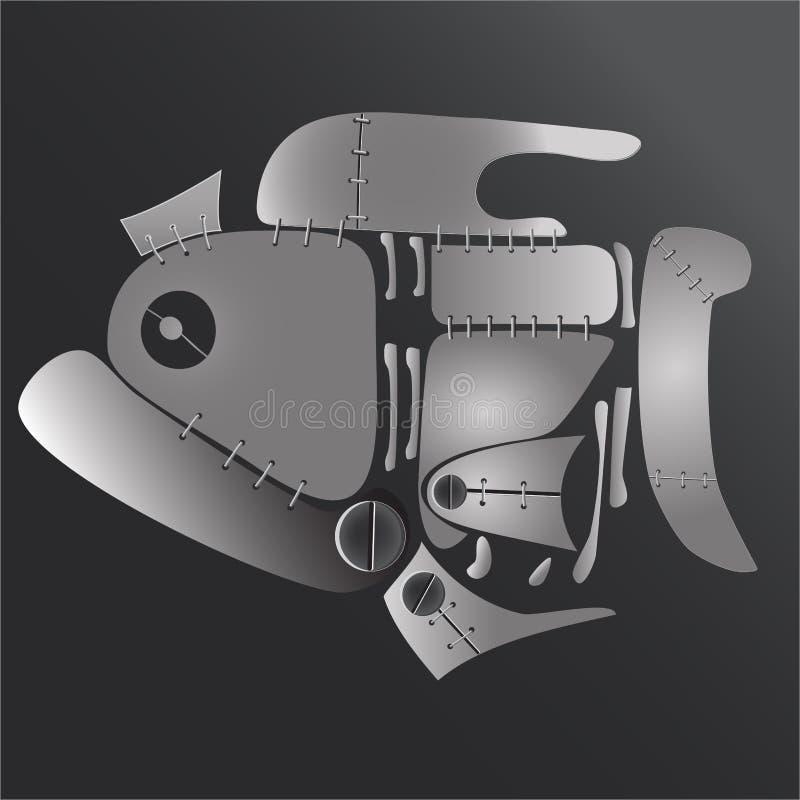 mekanisk fisk stock illustrationer