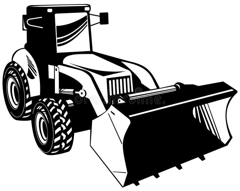 mekanisk grävare royaltyfri illustrationer