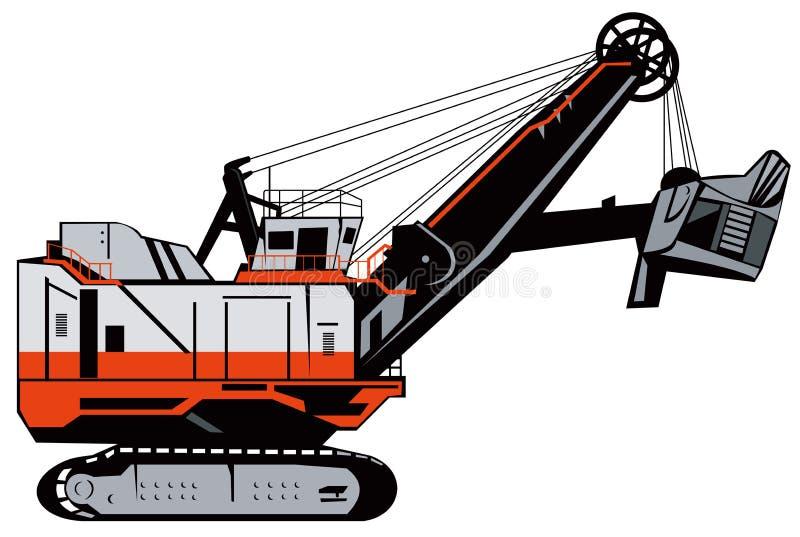 mekanisk grävare stock illustrationer