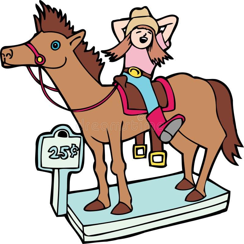 mekanisk häst vektor illustrationer