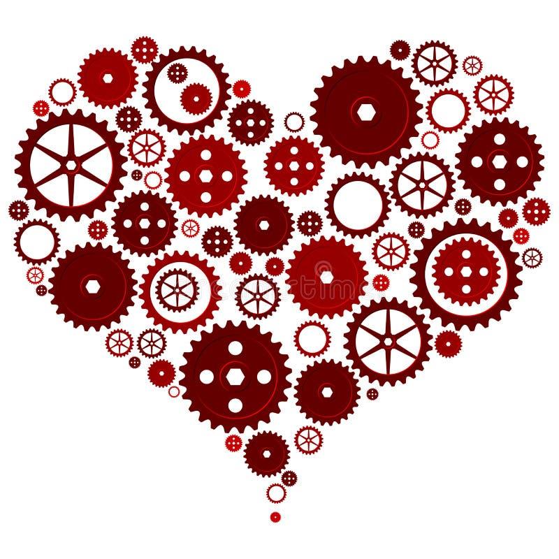 mekanisk hjärta royaltyfri illustrationer