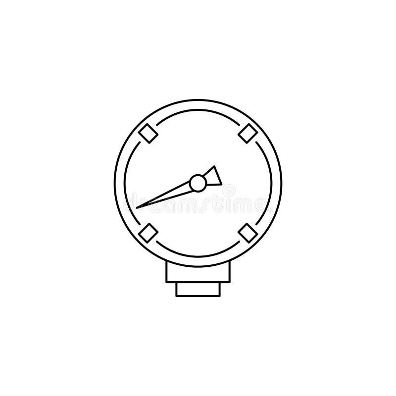 mekanisk indexsymbol Beståndsdel av att mäta instrument för mobila begrepps- och rengöringsdukapps Tunn linje symbol för websited stock illustrationer