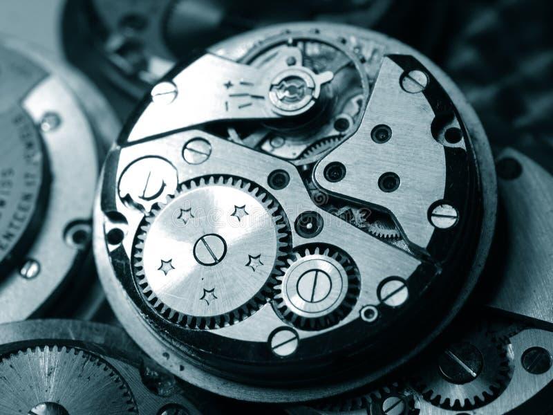 Mekanisk klocka för tappning arkivfoto