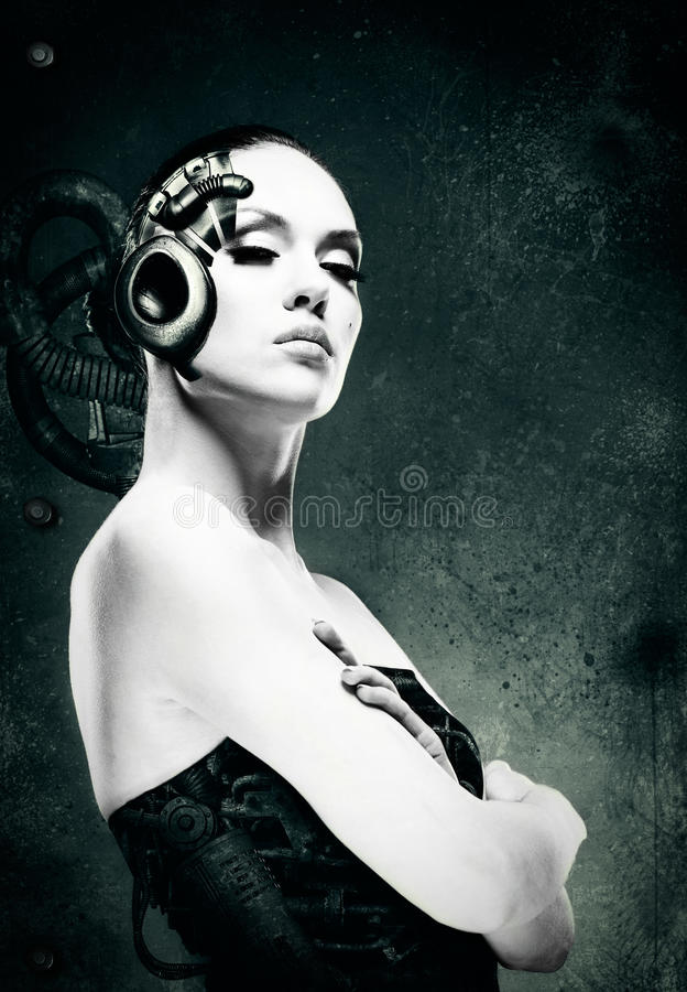 mekanisk kvinna royaltyfri fotografi