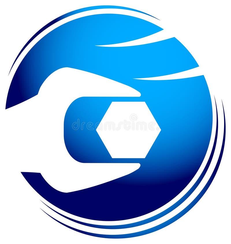 mekanisk logo vektor illustrationer