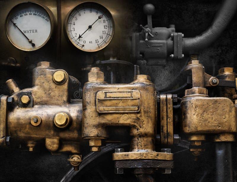 Mekanisk och för Steampunk grungebakgrund collage royaltyfri foto