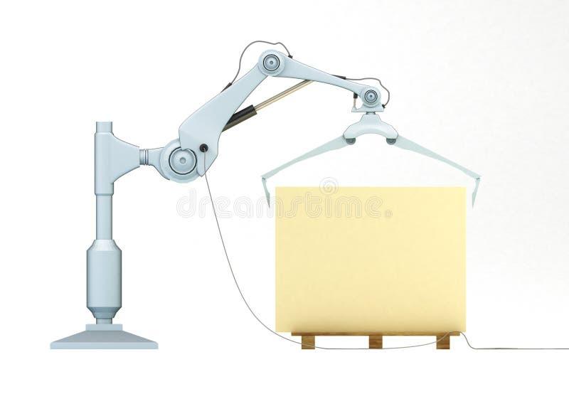 mekanisk universal för 2 manipulator stock illustrationer