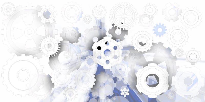 Mekanisk värld i mjuk miljö vektor illustrationer