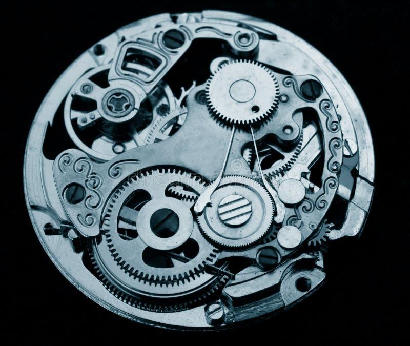 Mekaniskt klockamaskineri arkivfoto