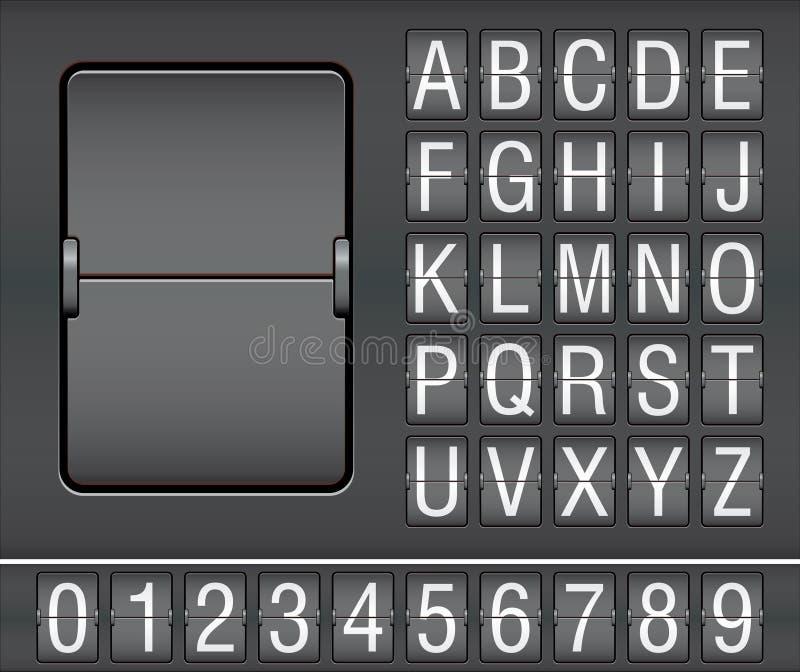 mekaniskt nummerfunktionskort för tecken royaltyfri illustrationer