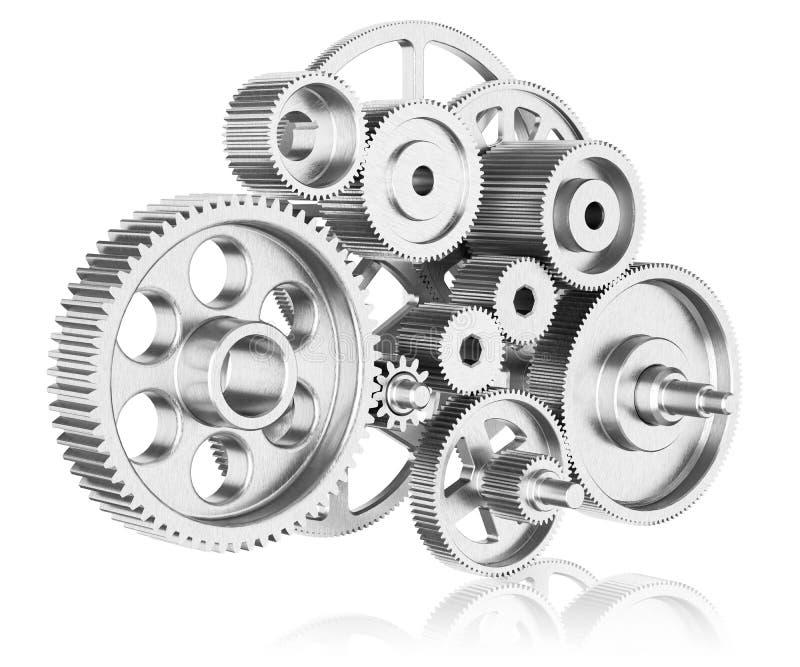 Mekanism av kugghjul vektor illustrationer