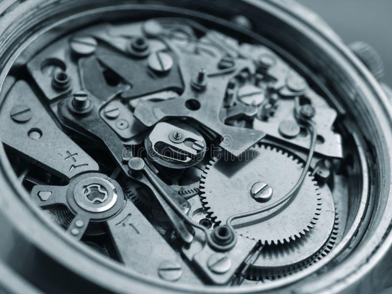 Mekanism för tappningchronographklocka arkivbild