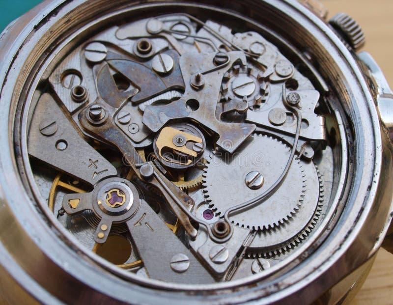 Mekanism för tappningchronographklocka arkivfoton