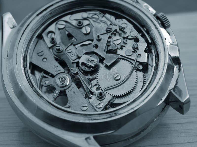 Mekanism för tappningchronographklocka royaltyfri bild