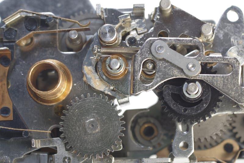 Mekanism med cog-wheels royaltyfri fotografi